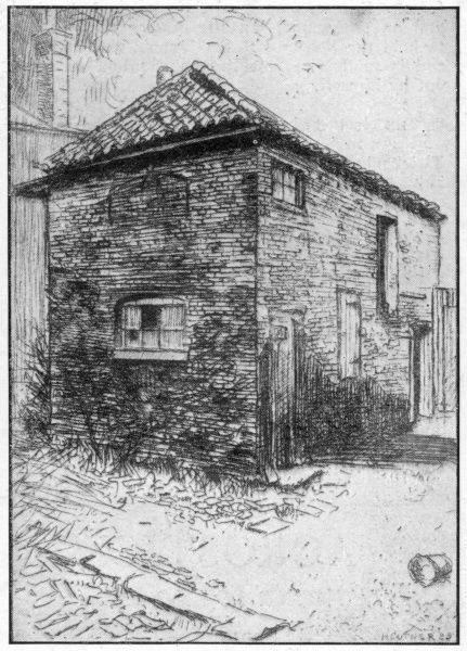 JOHN KEATS Cottage in Church Street, Edmonton, where the poet served his apprenticeship to Hammond, the surgeon, from 1811 to 1815