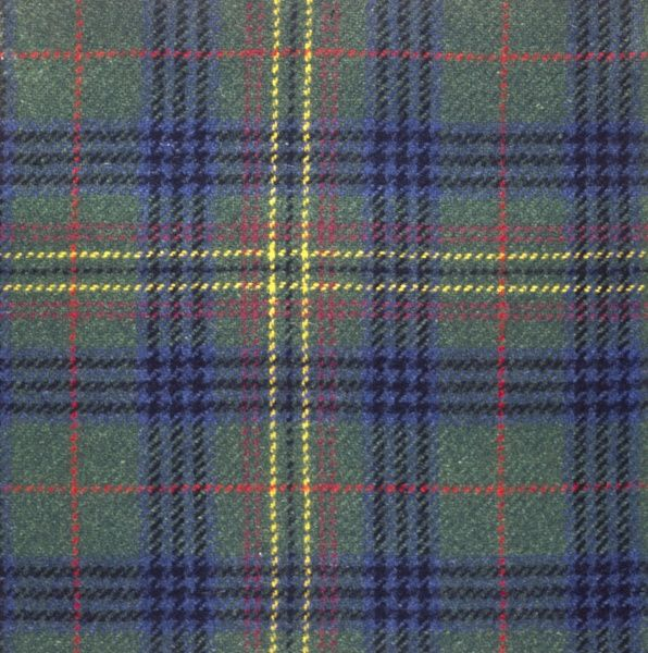 The Kennedy clan tartan, Scotland. Date: photo taken 1971