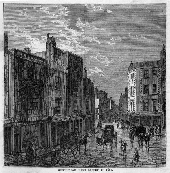 The High Street in the mid- 19th century