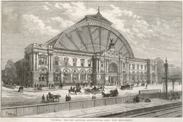 Olympia, the new national agricultural hall, West Kensington, London General exterior view