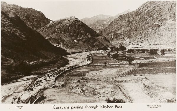 The Khyber Pass - the mountain pass that links Pakistan and Afghanistan