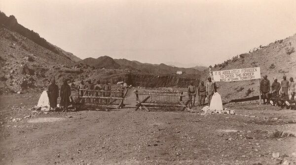 Khyber Pass - Border between Afghanistan and North West Frontier Province. Date: 1909
