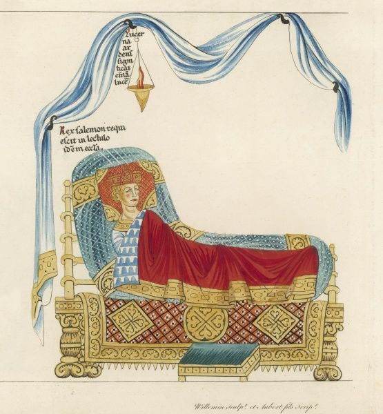 A king asleep : he may look peaceful, but uneasy lies the head that wears the crown
