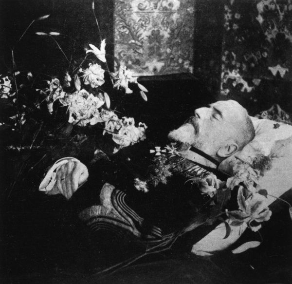 King Carol I of Romania (1839-1914) lying in state. Date: October 1914