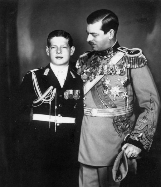 King Carol II of Romania (1893-1953) and his son, Prince Michael (b.1921)
