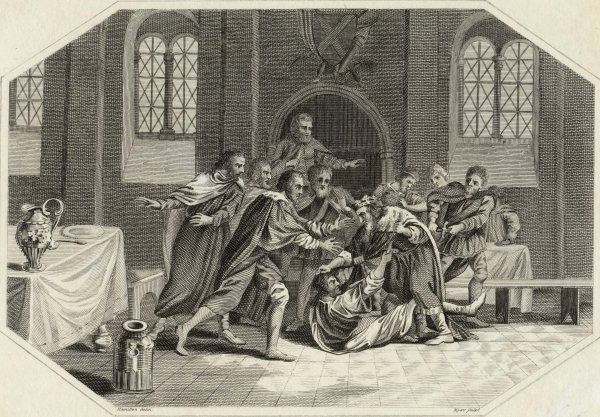 Edmund (or Eadmund), king of the English, is fatally stabbed by the bandit Liofa at the feast of Saint Augustine