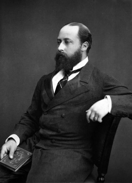 Photographic portrait of King Edward VII (1841-1910) of Great Britain and Ireland, pictured when Prince of Wales in July 1876