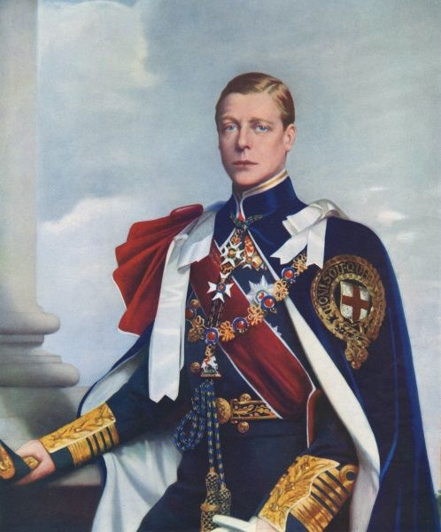 King Edward VIII (1894-1972), later Duke of Windsor, painted by John St. Helier Lander in the robes of Admiral of the Fleet and as Sovereign of The Order of the Garter