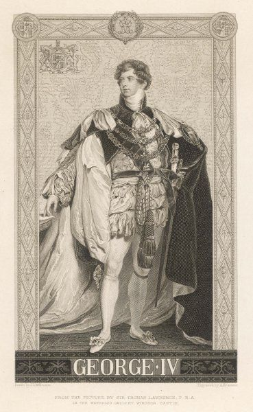 KING GEORGE IV OF ENGLAND Full length picture