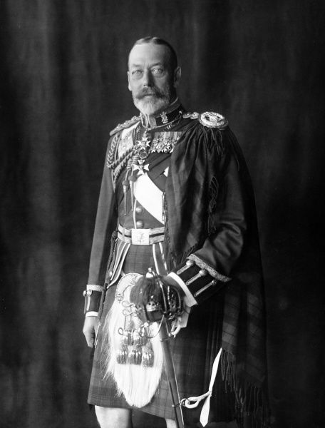 Photographic portrait of King George V of Great Britain and Northern Ireland (1865-1936), pictured in his uniform as Colonel of the Black Watch, date unknown