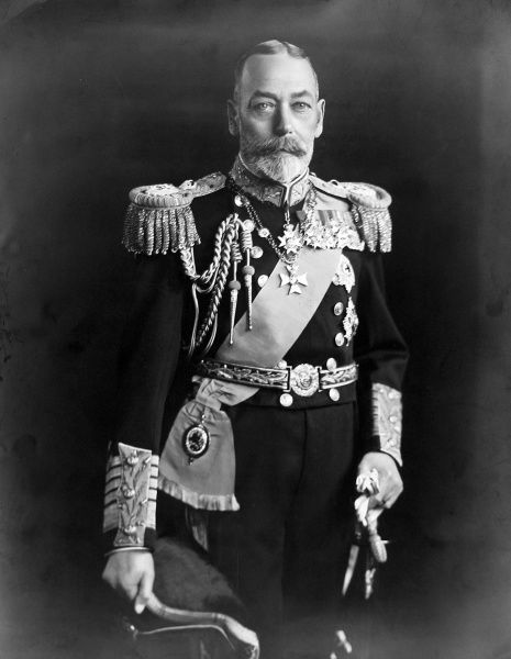 Photographic portrait of King George V of Great Britain and Northern Ireland (1865-1936), pictured wearing his Royal Navy Admiral of the Fleet Uniform, c.1930