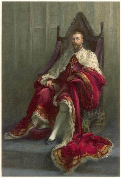 GEORGE V on his throne