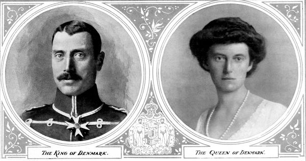Portraits of Christian X. and Alexandrina, Duchess of Mecklenburg, the King and Queen of Denmark, 1914
