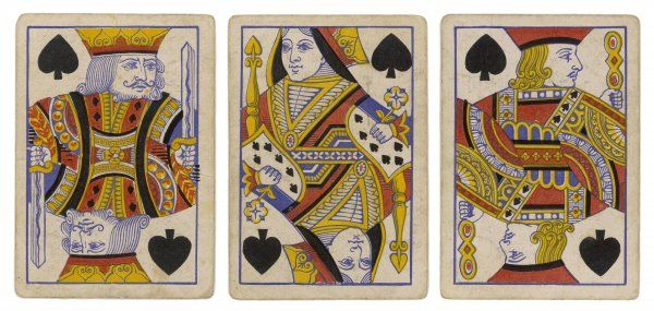 King, Queen and Knave of Spades