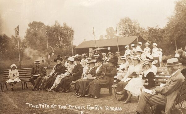 Kingham, Oxfordshire - The Fete at the Tennis Courts Date: 1915
