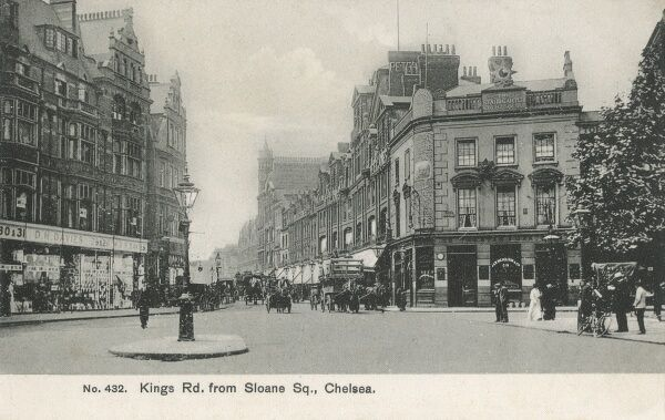 Kings Road viewed from Sloane Square, Chelsea, London