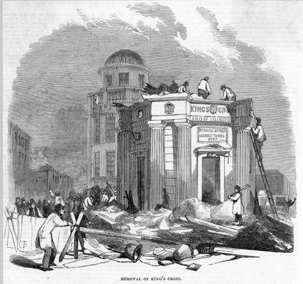 Demolition of the King's Cross, a monument to George IV that served as an exhibition hall, a police station and finally a beer shop. It was not much mourned