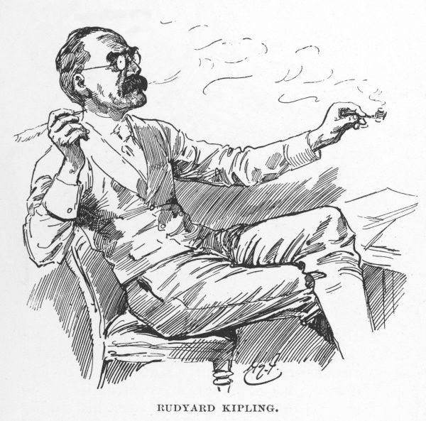 English writer, Rudyard Kipling (1865-1936)
