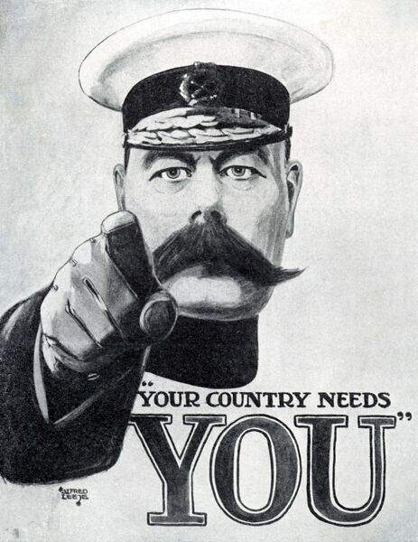 Your Country Needs You This direct and graphic recruitment poster featuring Lord Kitchener, aimed to command and inspire