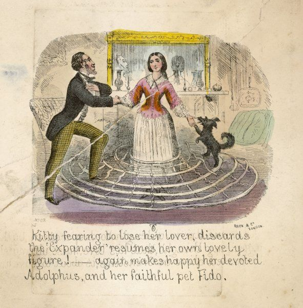 Forced to her senses Kitty abandons extremes of fashion to preserve her love with the long-suffering Adolphus, who with Fido the dog trample the collapsed hoops in triumph