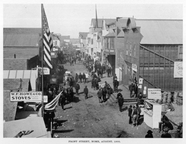 FRONT STREET, NOME, ALASKA during the Gold Rush