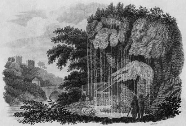 The celebrated Dropping Well at Knaresborough, Yorkshire Date: 1812