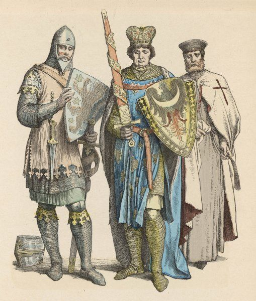 A Knight, A Prince & an Knight of the martial monastic order of the Templars