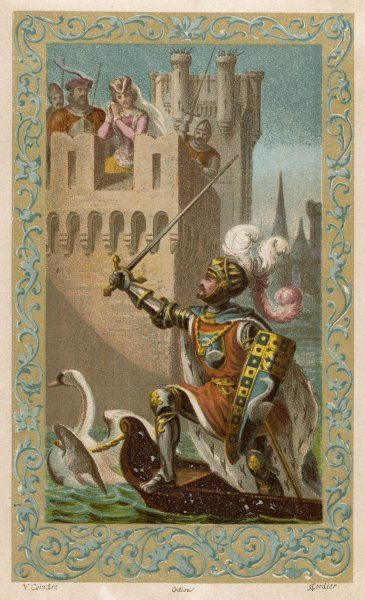 The Knight of the Swan comes to the rescue of the Princess of Cleves