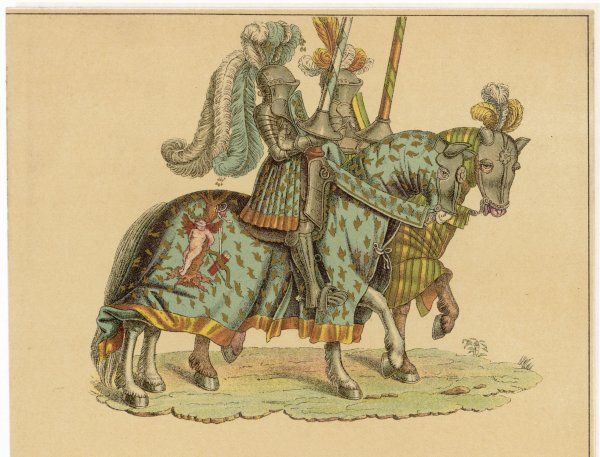 Knights on horseback