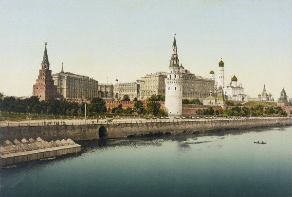 A view of the Kremlin taken from across the river