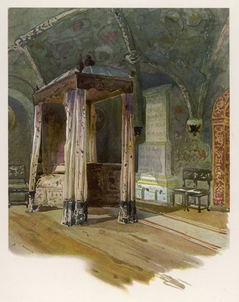 The bedroom of Czar Alexis Michaelovitch