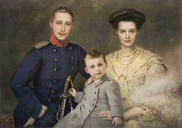 KRONPRINZ WILHELM Son of Kaiser Wilhelm II with his wife, Cecilie, and son, Wilhelm, in 1909