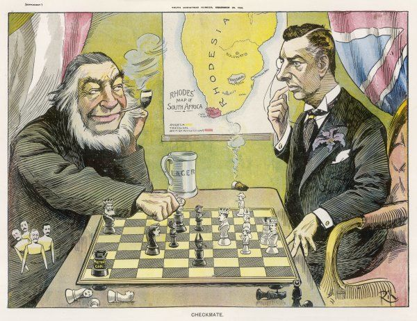 PAUL KRUGER Kruger outwits Joseph Chamberlain during discussions over South Africa