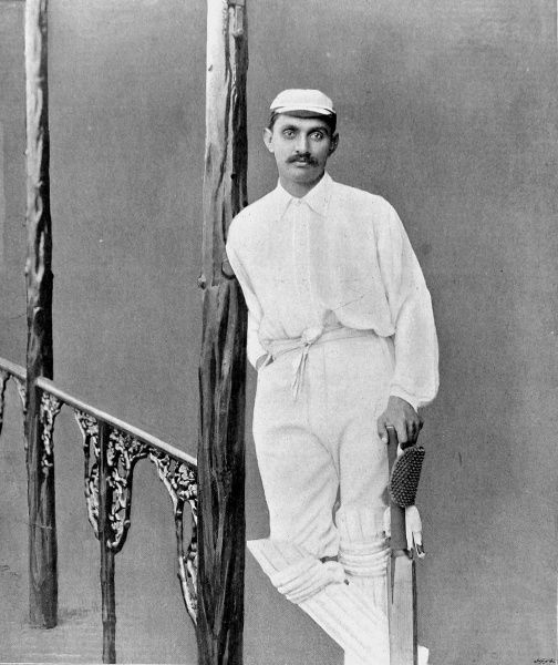 Kumar Shri Ranjitsinhji, the famous Indian-born cricketer, who played for England, Sussex and the MCC between 1893 and 1920. Ranjitsinhji scored 72 first-class centuries and was an enormously popular figure in both England and India