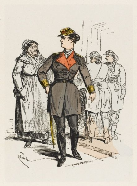 A female colonel in the Communard army