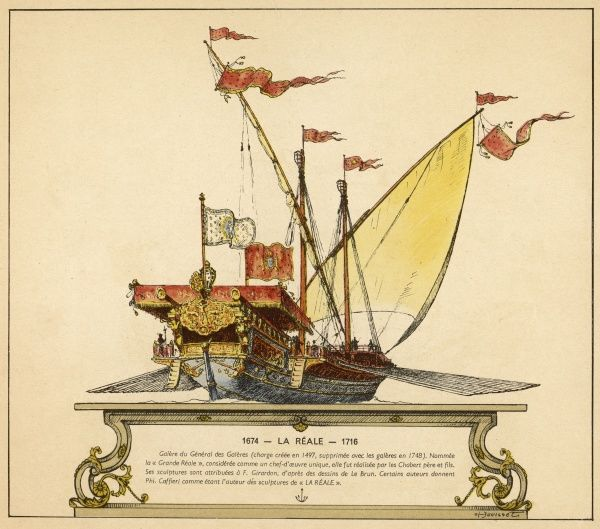 French sailing galley Date: 1674