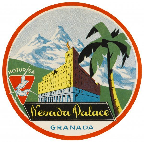 Label for the NEVADA PALACE at GRANADA, Spain