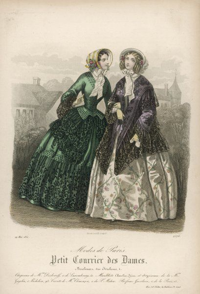 Two ladies in outdoor dress