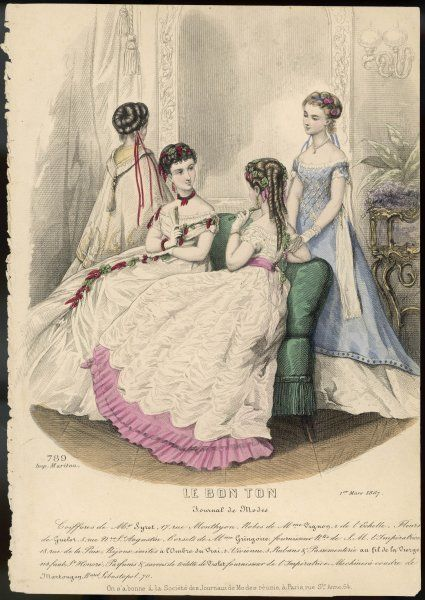 Four ladies in evening dress