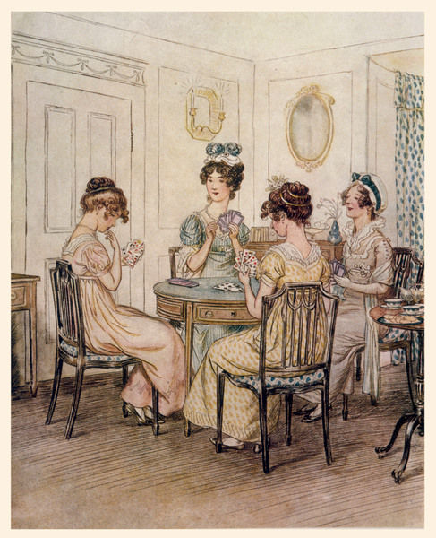 The ladies playing cards
