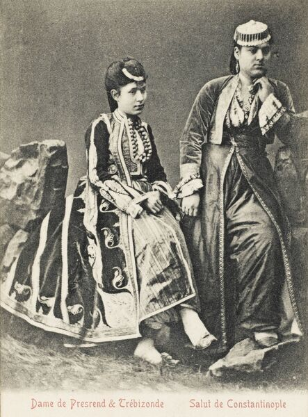 Ladies from Trabzon (on the Black Sea coast of north-eastern Turkey and the capital of Trabzon Province) and Presrend