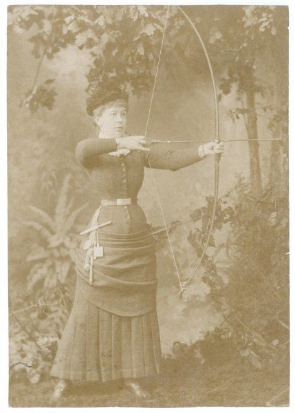 A lady archer with her bow and arrow (2 of 2)