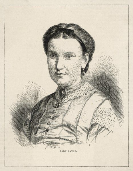 LADY BAKER Traveller in Africa and wife of Sir W Baker, Explorer