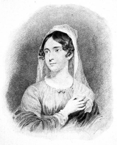 Illustration showing Anne Isabella, Lady Byron (1792-1860), wife of George Gordon Byron, 6th Baron Byron of Rochdale (1788-1824), the English poet and society figure