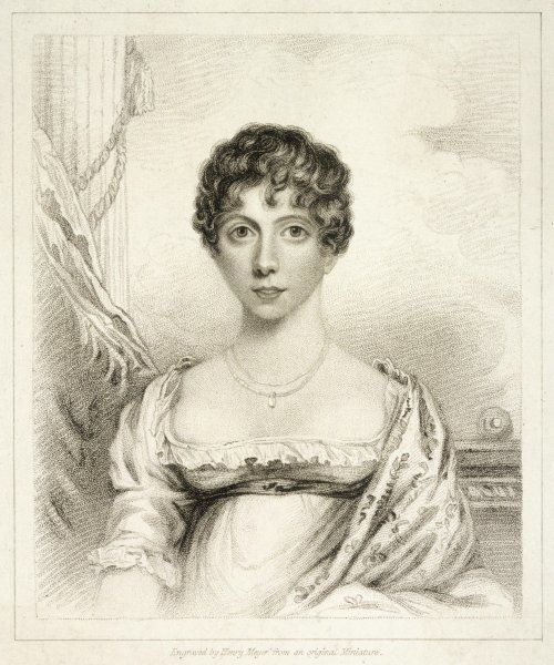 LADY CAROLINE LAMB nee Ponsonby : wife of William Lamb (later viscount Melbourne) : writer, fervent admirer of Byron for love of whom she became insane