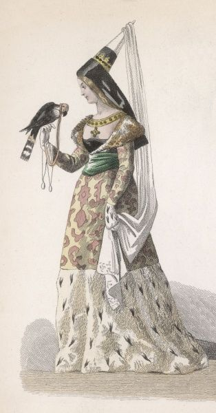 A noble lady with a falcon