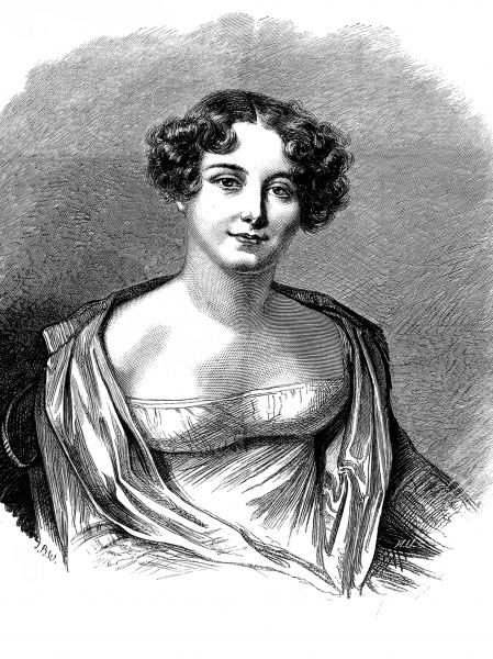 Engraving of Lady Jane Franklin, nee Griffin, the wife of the English explorer, Sir John Franklin. Lady Jane travelled extensively with Sir John through Syria, Turkey, Egypt and Tasmania, but did not join him on his 1845 expedition to the Northwest Passage