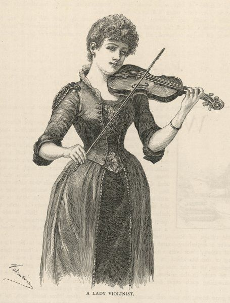 A lady plays the violin