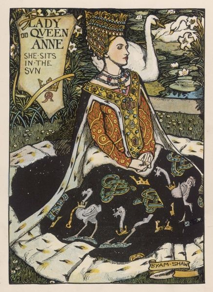 'Queen Anne, Queen Anne, she sits in the sun, as fair as a lily, as white as a swan; I send you three letters, so pray you read one..&#39