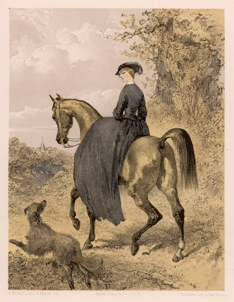 The correct seat - side- saddle, of course - for the accomplished equestrienne